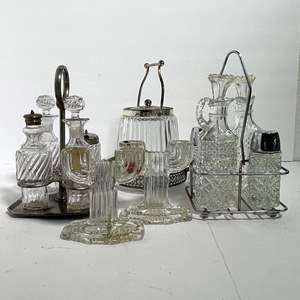 Lot # 48 - Vintage Clear Glass Art Deco Sets