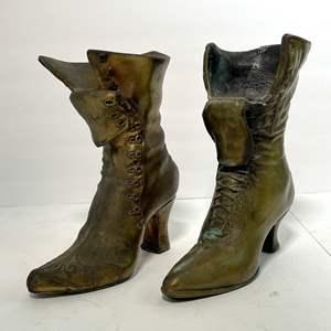 Lot # 52 - Bronze Ladies Boots Sculpture