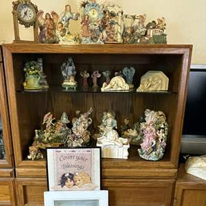 Lot # 59 - Angel and Heaven Themed Figurines, Clocks and Art