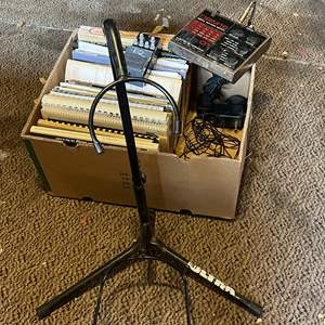 Lot # 72 - Electro Harmonix DRM-16 Drum Machine, Johnson Distortion DEQ2, Guitar Stand and Much More