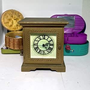 Lot # 73 - Jewelry Box and Sewing Kits