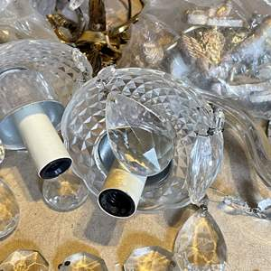 Lot # 80 - Classic Crystal Chandelier (Parts and Pieces)