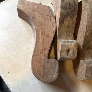 Lot # 88 - (4) Large Matching Table Legs (could be used as corbels)
