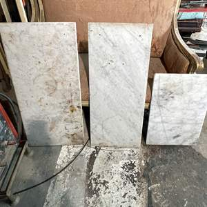 Lot # 98 - (3) Marble Table Tops