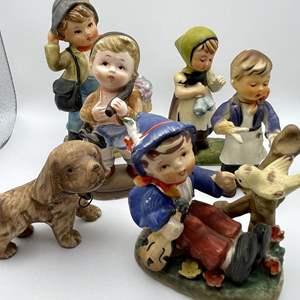 Lot # 106 - Vintage Porcelain and Plaster Figurines