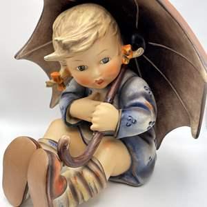 Lot # 112 - Vintage 1950's Large Hummel 152 Girl With Umbrella