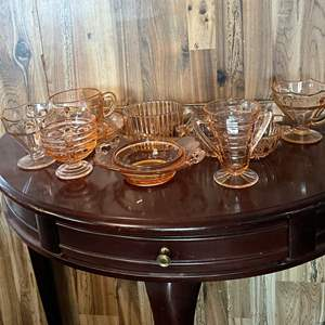 Lot # 123 - Pink Depression Glass (and some modern)