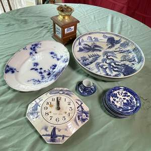 Lot # 137 - Blue Transferware Collection (Occupied Japan, English Flow Blue and Modern)