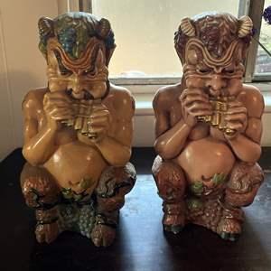Lot # 154 - Vintage Arner's Pipes Of Pan Statues