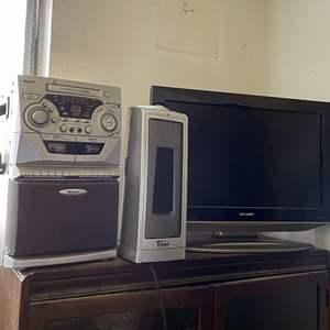 Lot # 184 - (3) Electronic Items: Tv, Heater and Karaoke Machine