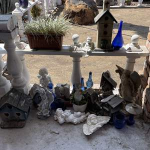 Lot # 190 - Tons of Yard Art, Statues, Birdhouses and Other Items Shown