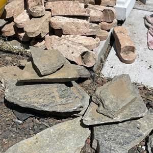 Lot # 193 - Interlocking Border Bricks and Slate Pavers