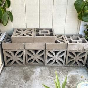 Lot # 199 - Decorative Cement Cinder Blocks