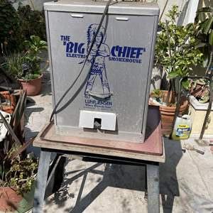 Lot # 202- Electric Smoker and Stand