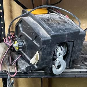 Lot # 208- Master Lock Portable 12v Winch