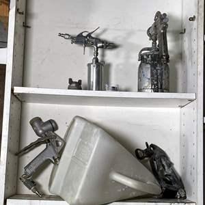 Lot # 219- Pneumatic Air Spray Guns and Accessories