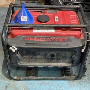 Lot # 226- PREDATOR 4000 PEAK/3200 RUNNING WATTS 6.5 HP GENERATOR