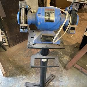 Lot # 231- Bench Grinder With Pedestal/Stand
