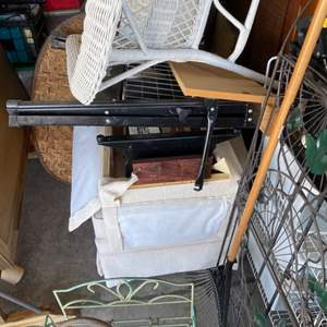 1 - Garage contents 10'x10' - New in Box Electric Fireplace($1k value), Shop Vac, Small-Furniture, Decor and Much More