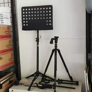 Lot # 22 - Music Stand and Camera Stands