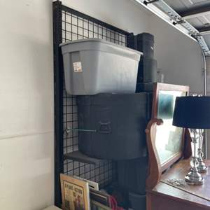Lot # 24 - Free Standing Metal Wall Rack ( Contents Not Included )