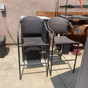 Lot # 34 - Resin Wicker Patio Chairs