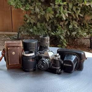 Lot # 48 - Vintage Cameras and Lenses