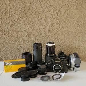 Lot # 49 - Vintage Cameras, lenses and Video Cameras