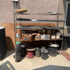 Lot # 51 - Large Lot of Irrigation And Landscaping Supplies (nsf rack not included)