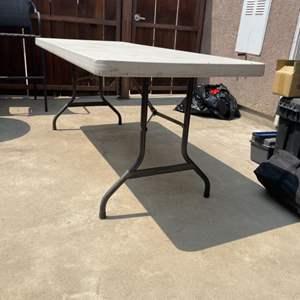 Lot # 54 - Plastic Folding Picnic Table