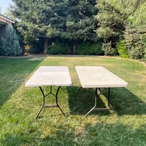 Lot # 80 - Lifetime Plastic Indoor/Outdoor Tables