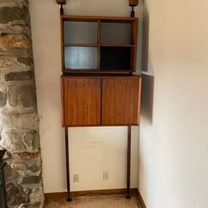 Lot # 21 - Mid Century Modern modular adjustable shelving (matches lots 112, 116)