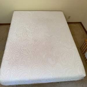 Lot # 37 - Sealy Foam mattress and box spring/rails