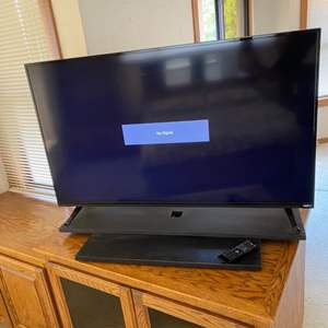"""Lot # 51 - Visio 50"""" TV with remote and swivel base"""