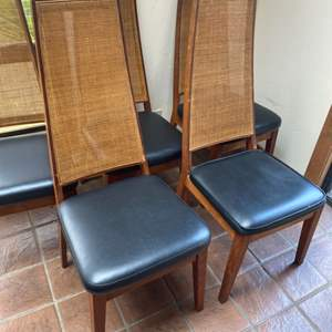 Lot # 68 - Set of 5 Mid century modern chairs with Cain backs