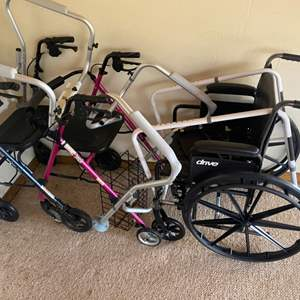 Lot # 81 - Home health items, wheelchair, walkers and more