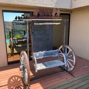 Lot # 132 - Wagon Wheel swing