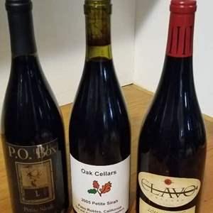 Lot # 42 -3 Bottles of PETITE SIRAH