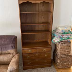 Lot # 9 - Two matching book cases with drawers