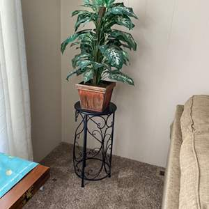 Lot # 12 - Plant and plant stand