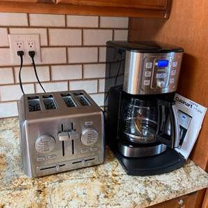 Lot # 19 -  Cuisinart coffee pot and toaster