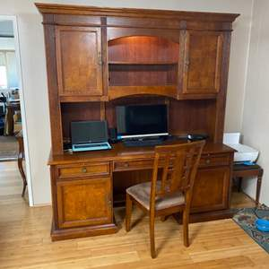 Lot # 20 - Desk with book/storage Shelf (chair not included)