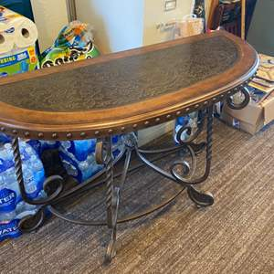 Lot # 79 - Half round hall table
