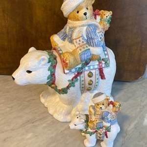 Lot # 86 - Cherished Teddies collection Cookie jar and Salt & Pepper