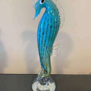 Lot # 103 - Handblown glass seahorse