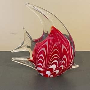 Lot # 110 - Handblown glass Angel fish