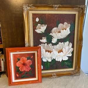Lot # 116 - Framed original painting and framed art