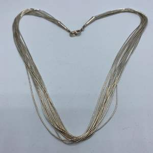 Lot # 132 - Sterling silver necklace (12.3g)