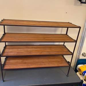 Lot # 139 - Small space shelving unit