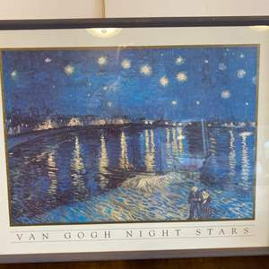 Lot # 146 - Framed poster of a Van Gogh painting